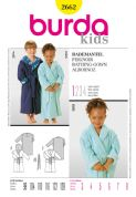 2662 Burda Pattern: Toddlers' and Children's Dressing Gowns